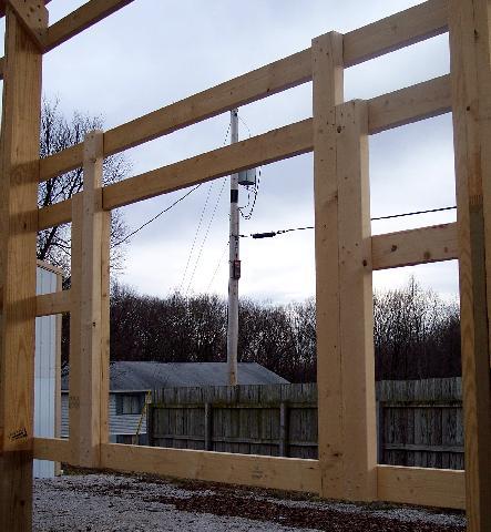 Framing a overhead door in a pole barn joy studio design for How to frame a pole barn house